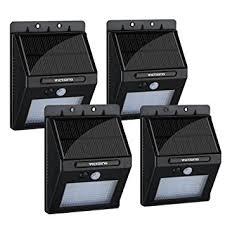 victsing 4pcs 20 led solar motion sensor lights