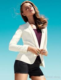 Best Quality Wholesale 2016 New Fashion Brand Blazer Women Suit Solid Color High Street Jackets Coat Office Lady Business Female Cool Blazers Plus Size At
