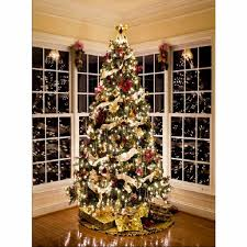 Backdrops 5x7FT Christmas Tree Gift Fireplace Photography Backdrop