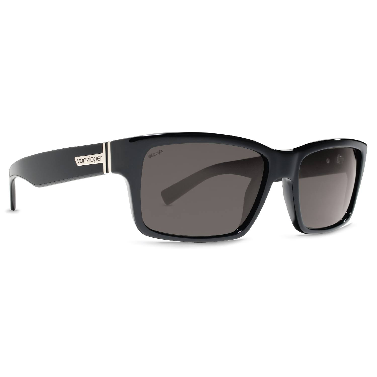 VonZipper Fulton Sunglasses Wildlife Polarized - Black Gloss