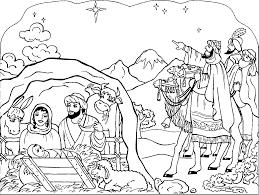 Full Nativity Scene Coloring Pages