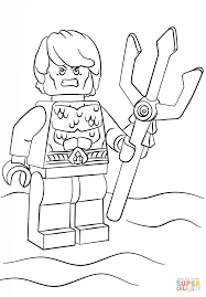 Aquaman Coloring Pages Lego Page Free Printable For Kids