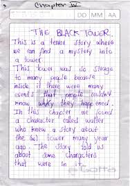 A Students Written Paper Sheet Based On One Chapter Of Story