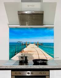 Jetty To Paradise Printed Glass Splashback From DIYSplashbackscouk