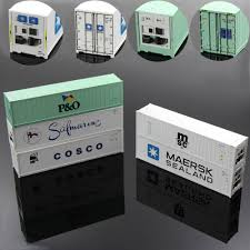 100 Shipping Container Model US 3919 20 OFFC8722 40ft Hi Cube Refrigerater S Container Freight Cars Trucks HO Scalein Building Kits
