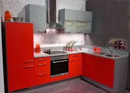 einbauküche mankawin 4 rot arktisgrau küchenzeile l form 285x175cm ohne e geräte