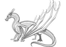Click To See Printable Version Of Skywing Dragon From Wings Fire Coloring Page