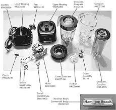 Hamilton Beach HBB250 Parts List And Diagram