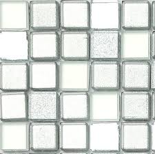 sle of silver mirror frosted glitter mix glass mosaic tile