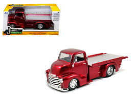 100 Chrome Truck 1952 Chevrolet COE PickUp Flat Bed Red With Wheels