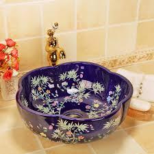 china künstlerische handarbeit kunst waschbecken keramik arbeitsplatte waschbecken badezimmer waschbecken tischplatte waschbecken