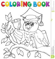Coloring Book Owl Teacher Theme Vector Illustration Enchanted Forest Colouring Creative Haven Owls Pdf