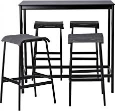 5 Piece Bar Height Patio Dining Set by Bar Stools Round Pub Table Counter Height Pub Table Counter