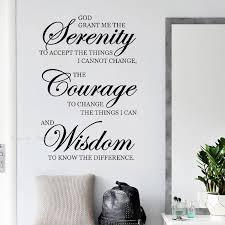 inspirational zitate wand aufkleber wohnkultur wohnzimmer serenity mut weisheit kunst sprüche abziehbilder kunst wandmalereien schlafzimmer y034