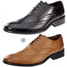Men Brown Leather Kickfoot Shoes RNS1034