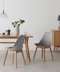 2 x thelma esszimmerstühle eiche und grau