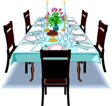Furniture Clipart Kitchen Table 4