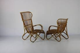 Vintage Set Of 2 Lounge Chairs In Rattan - Design Market