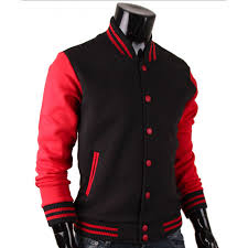 red and black varsity jacket baseball letterman jacket