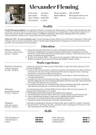 Resume Examples By Real People Student Pharmacy
