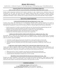 Auto Dealership Sales Manager Resume