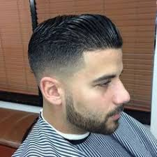 Long Chin Curtain Beard by 1 On The Sides Medium Fade Up To A Rough Pompadour Hair