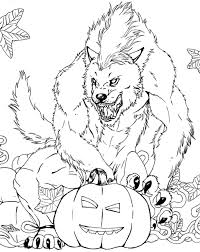 Werewolf Pumpkin Carving Ideas by Free Werewolf Coloring Page Lineart Classic Monsters