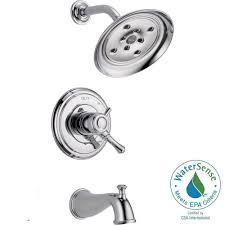 Bathtub Faucet Dripping Delta by Delta Cassidy 1 Handle H2okinetic Tub And Shower Faucet Trim Kit