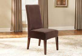 100 Wooden Dining Chair Covers Stretch Pinstripe Short Slipcover SureFit