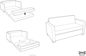 Balkarp Sofa Bed Instructions by Ikea Futon Assembly Furniture Shop