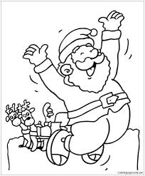 Happy Santa Coloring Page