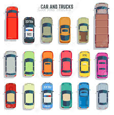 100 Free Cars And Trucks Top View Flat Vector Icons Set Of Car Sedan