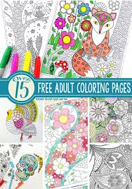 Over 15 Free Adult Coloring Pages