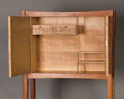 Flaxman Built This Cabinet On Stand While Studying At The Inside Passage School Of Fine Woodworking Not Only Was It Modeled After One James Krenovs