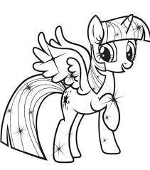 MLP Princess Twilight Sparkle Alicorn Coloring Pages