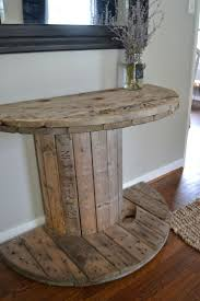 diy wooden spool console table kids room design wooden spools