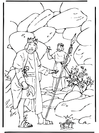 Bible Coloring Pages Old Testament David And Saul
