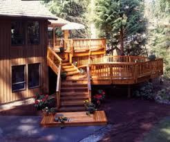Deck Designing by 2 Tier Deck Designs Level Decks For Outdoor Living Deck