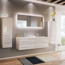 badmöbelset mit doppelwaschtisch und led spiegel miramar 02 weiss hoch
