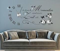 home décor wanduhr wandtattoo uhr wohnzimmer wandsticker