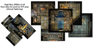 basic dungeon tiles set 2 handcrafted dungeons by outland arts