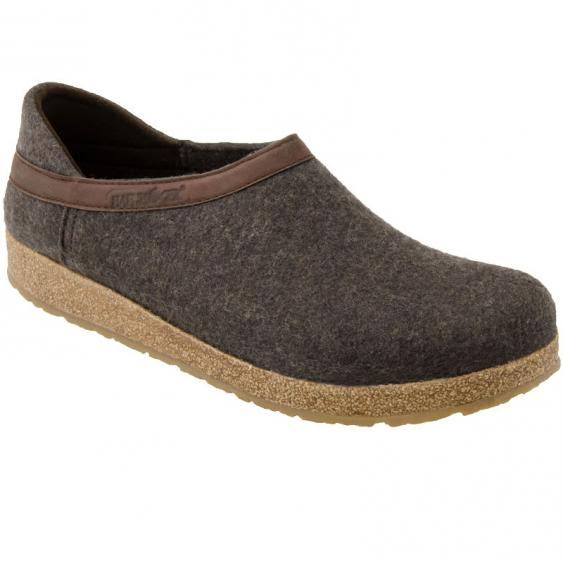 Haflinger Unisex GZH Closed Heel Grizzly, Size: 39 M, Smokey Brown