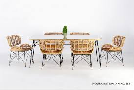 Noura Rattan Dining Set   Indonesia Teak Java Furniture Manufacturer ... Set Of Six Leatherbound Rattan Ding Chairs By Mcguire Eight Brge Mogsen For Sale At 1stdibs Vintage Bentwood Of 3 Stol Kamnik Cane And Rattan Fniture Five Shop Provence Oh0589 Outdoor Patio Wicker With Arms Teva Bora 2 Verona Pair Garden Fniture Brown Muestra Natural Teak Wood Woven Chair Zin Home Hospality Kenya Mcombo Poolside Cversation C Capris And Ottomans Sc753 Weathered Gray