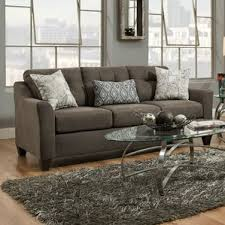 Levon Charcoal Sofa And Loveseat by Simmons Flannel Charcoal Sofa Wayfair