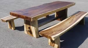 table de cuisine en bois massif beautiful table de jardin en teck brut pictures amazing house