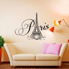 Paris Wall Decal Vinyl Lettering Bedroom Decor