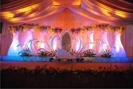 Indian Wedding Decoration Ideas With Fall Stage Design Church