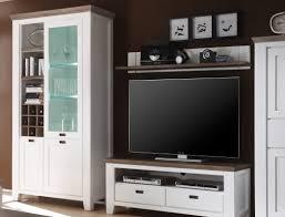 wohnwand akazie weiß 4 teilig medienwand tv wand tv möbel