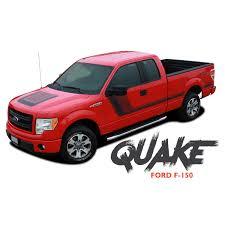 100 2014 Ford Truck Models F150 QUAKE Hood And Hockey Stripe Tremor FX Appearance Vinyl