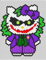 Halloween Hama Bead Patterns by Joker Hello Kitty Bead Pattern Hello Kitty Perler Pinterest